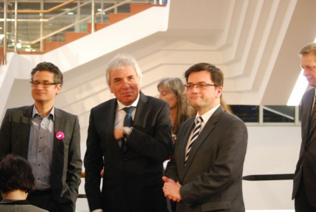 Dr. Yilmaz Dziewior (Leiter des Museum Ludwig), Norbert Burger,Thomas Kutschaty (Justizminister,NRW)