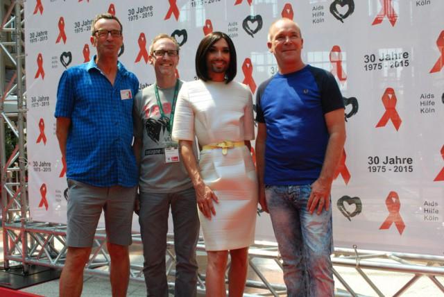 Michael Schuhmacher, Jörg Kalitowisch,     Conchita Wurst und Bernt Ide
