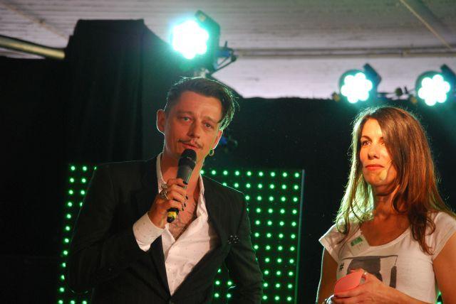Der Schirmherr der Veranstaltung mit Bent Angelo Jensen, mit Ines Hölter (Moderation)