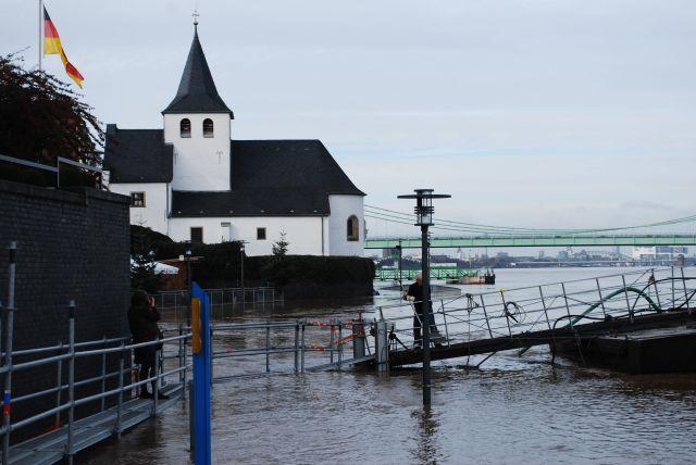 Rheinhochwasser Köln