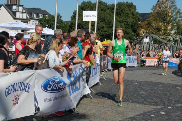 Nicht viel später lief Simon Dahl mit einer Zeit von 55:19 ins Ziel
