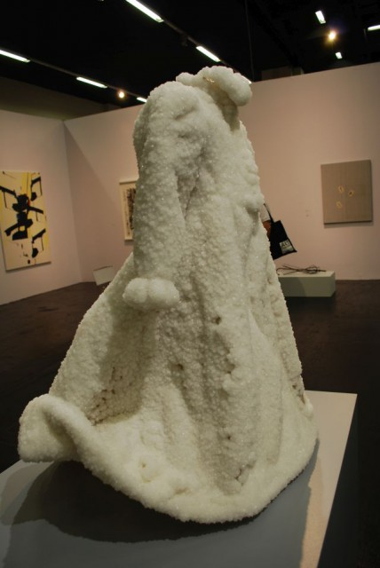 "Sigalit Landau,"" Small Salt Bride"" Dress suspendet in salt water of the Dead Sea-Marlborough Contemporary GB London"