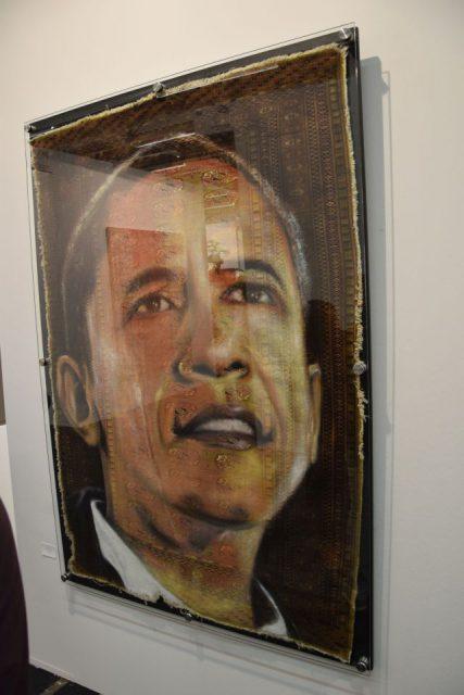 Obama als Teppich