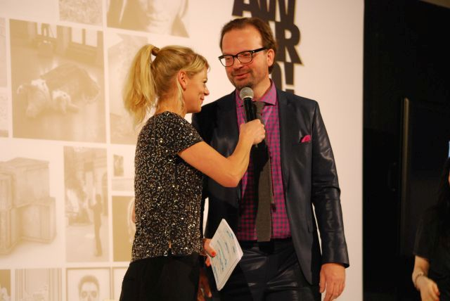 Anja Backhaus (West Art) mit Walter Gehlen (Art.fair)