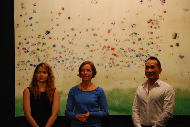 Die drei Preisträger des Bloom Awards in der Reihenfolge von links : 1. Samira Elagoz, 2.Stephanie Lüning,  3.Yi Zeng Ling