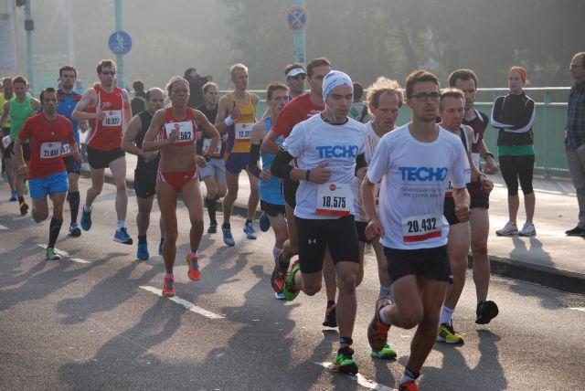 Christl Dörschel  die Gewinnerin bei den Frauen , die den Lauf in einer Zeit von 1:17 lief
