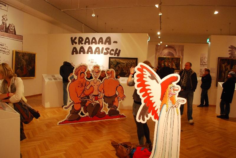 DSC 4176 Comics und Kunst   Art Spiegelman und Ralf König stellen in Köln aus.