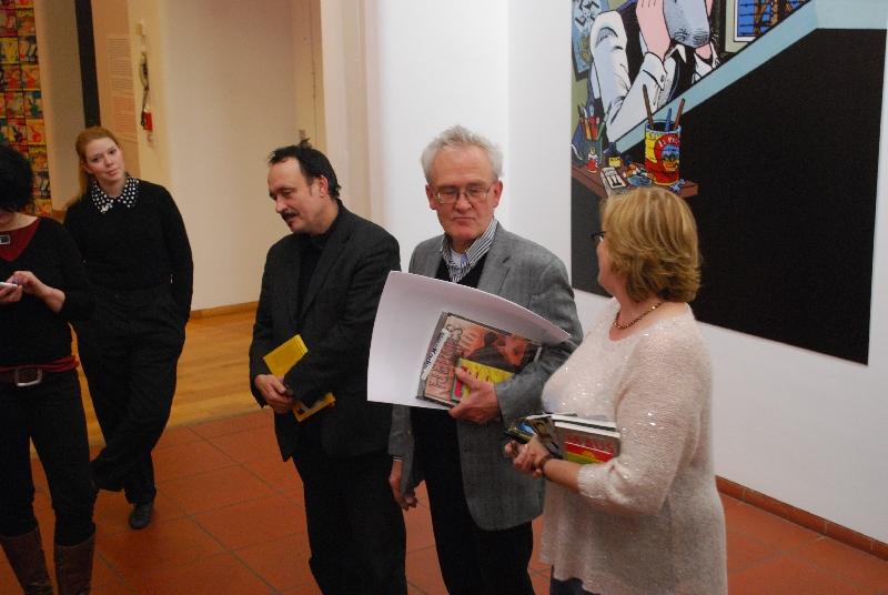 DSC 5185 Comics und Kunst   Art Spiegelman und Ralf König stellen in Köln aus.